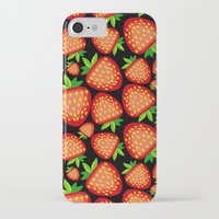 strawberry iPhone & iPod Cases featuring Strawberry by LaDa