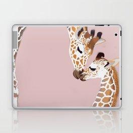 Giraffe mother and baby Laptop & iPad Skin