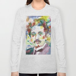 ALBERT EINSTEIN - watercolor portrait.8 Long Sleeve T-shirt
