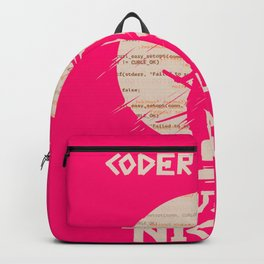 Geek Programmer Coder design Ninja by Night Gift Backpack