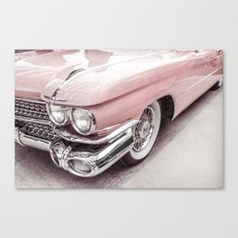 Blush Pink Vintage Car Canvas Print