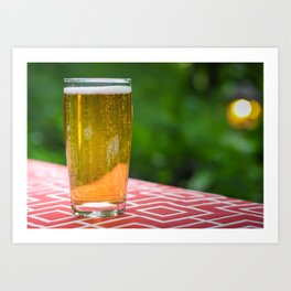 Cold Glass Of Beer Art Print