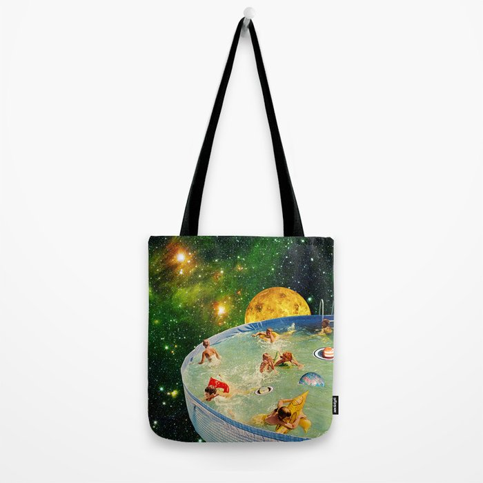 Screaming Children in Pool Tote Bag