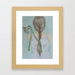 The Ribbon in Her Hair Framed Art Print