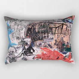 Basquiat Style Rectangular Pillow