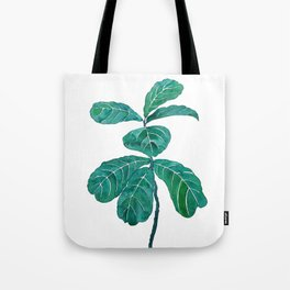 fiddle leaf fig watercolor Tote Bag