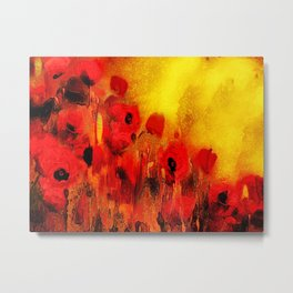 FLOWERS - Poppy reverie Metal Print