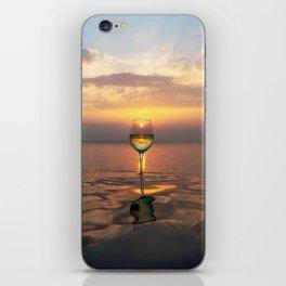 Paradise Ocean Wine Sunset iPhone Skin
