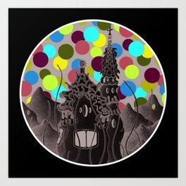 parc guell wonderland Art Print
