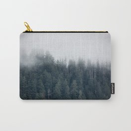 Misty Morning - Fog Rises off Mountains Revealing Forest in Washington Carry-All Pouch