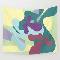 circus Wall Tapestries featuring circus by carolinegeys