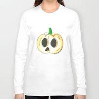 lantern Long Sleeve T-shirts featuring Skull Lantern by KristenOKeefeArt