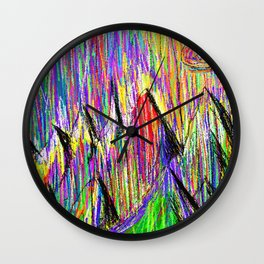 Colour Falls - Matt Texture 6 Wall Clock