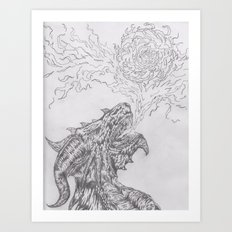 dragon fire artist Art Print