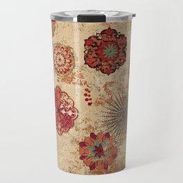 Bohemian Floral Moroccan Style Design Travel Mug