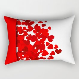 Hearts falling out of an envelope Rectangular Pillow