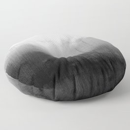Modern Black and White Watercolor Gradient Floor Pillow