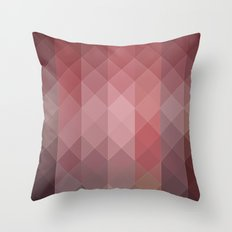 Concrete red wall geometric Throw Pillow