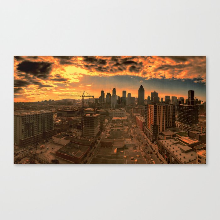 Montreal Skyline Canvas Print