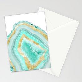 Agate Gold Foil Glam #2 #gem #decor #art #society6 Stationery Cards