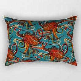 octopus ink teal Rectangular Pillow