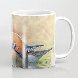 Watercolor Mandarin Ducks Feng Shui Symbol Coffee Mug