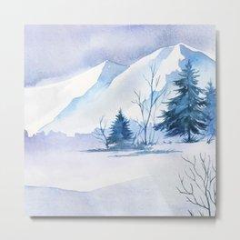 Winter Landscape 7 Metal Print