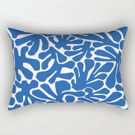 The Cut Outs | Bright Blue Rectangular Pillow