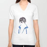 iwatobi V-neck T-shirts featuring haruka free  by Rebecca McGoran
