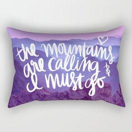 Mountains Are Calling Rectangular Pillow