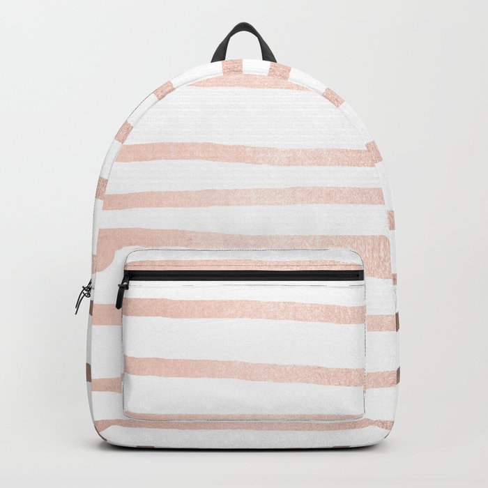 Simply Drawn Stripes Moon Dust Bronze Backpack