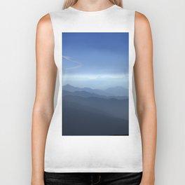 Blue dreams. Misty mountains Biker Tank