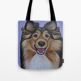 """Rough Collie """"Lassie"""" Portrait Tote Bag"""
