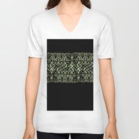 tigers V-neck T-shirts featuring Tigers by Camille Hermant