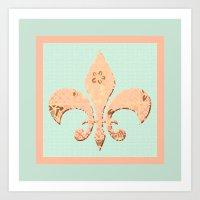 fleur de lis Art Prints featuring Fleur de Lis by Artistic Home Decor