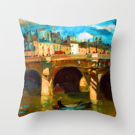 William Glackens The Seine Throw Pillow