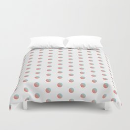 Peach Echo & Limpet Shell Polka Dots Pattern Duvet Cover