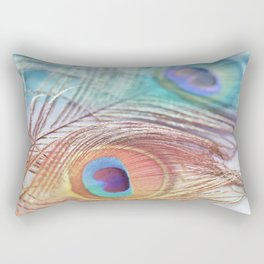 Pastel Boho Peacock Rectangular Pillow