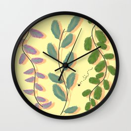 Different Kinds of Leaves Wall Clock