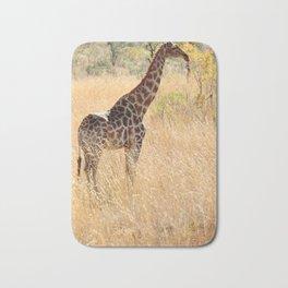 African Giraffe on a Bright Day Bath Mat