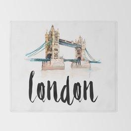 London watercolor Throw Blanket
