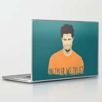 tyler durden Laptop & iPad Skins featuring In Tyler we trust by Eveline