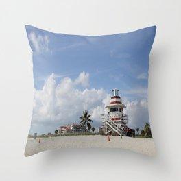 South Beach Miami Lifeguard Station Throw Pillow