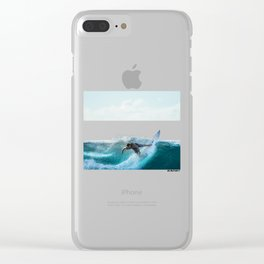 Surfing Wave Equality Sign (LGBT) Clear iPhone Case