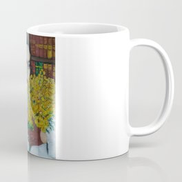 Portrait of The Retro Lady with Mimosa Coffee Mug