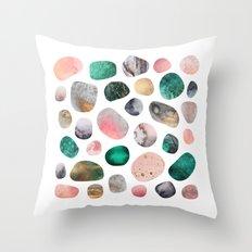 Pretty Pebbles Throw Pillow