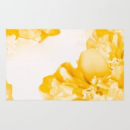 Beautiful Peony Flowers White Background #decor #society6 #buyart Rug