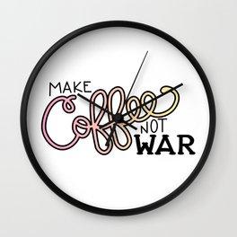 Coffee Not War (Sunset) Wall Clock