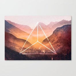 The Elements Geometric Nature Element of Fire Canvas Print