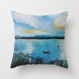 Lake Champlain at Sunset Throw Pillow